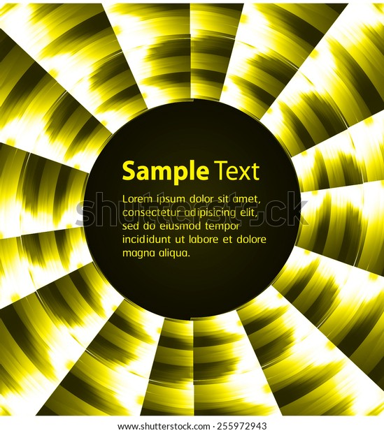Dark yellow Light Abstract Technology background for computer graphic website internet and business. circle text box. Brochure. card. wave