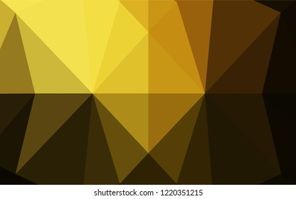 Dark Yellow, Orange vector abstract mosaic background. Shining illustration, which consist of triangles. A completely new template for your business design.
