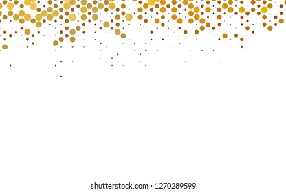 Dark Yellow, Orange vector backdrop with dots, spots. Colorful illustration with blurred circles in nature style. Template for your brand book.