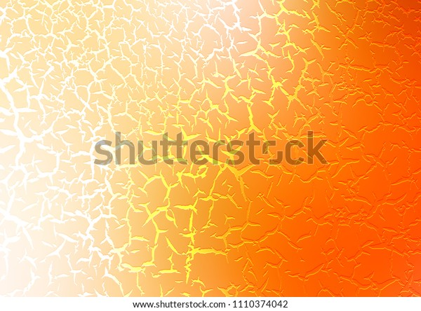 Dark Yellow, Orange vector background with bent ribbons. Modern gradient abstract illustration with bandy lines. Brand new design for your ads, poster, banner.