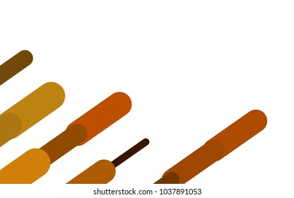 Dark Yellow, Orange vector cover with rounded stripes. Decorative shining illustration with lines on abstract template. Smart design for your business advert.