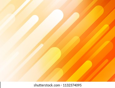 Dark Yellow, Orange vector layout with flat lines. Glitter abstract illustration with colored sticks. Best design for your ad, poster, banner.