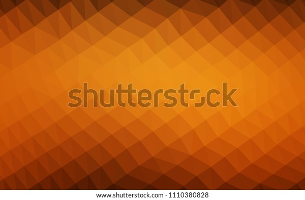 Dark Yellow, Orange vector polygonal background. Creative geometric illustration in Origami style with gradient. The best triangular design for your business.