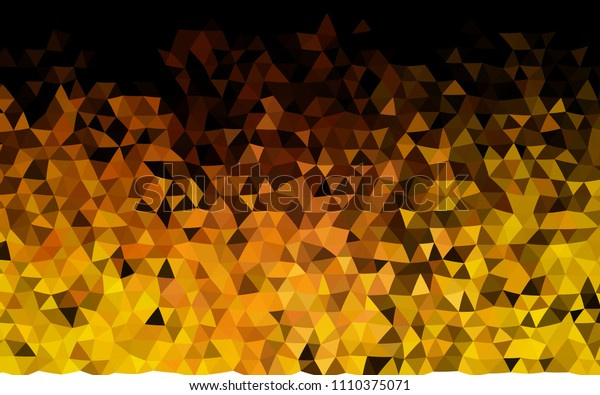 Dark Yellow, Orange vector triangle mosaic pattern. Geometric illustration in Origami style with gradient.  A completely new design for your business.
