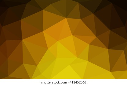 Dark yellow polygonal illustration, which consist of triangles. Triangular design for your business. Geometric background in Origami style with gradient.