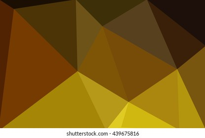 Dark yellow polygonal illustration, which consist of triangles. Geometric background in Origami style with gradient. Triangular design for your business.