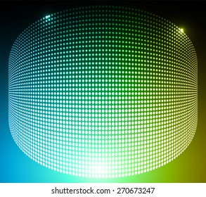 Dark yellow red green Abstract light lamps background for Technology computer graphic website internet and business.. Screen on stage. Vector illustration. Spot Effect. neon. point. dot