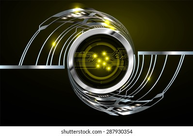 dark yellow silver Light Abstract Technology background for computer graphic website internet and business. circuit. vector illustration. infographics. wave.Spark.Metals alloys steel aluminum