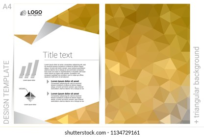 Dark Yellow vector  banner for websites. Glitter abstract design concept with text box. Completely new template for your brand book.
