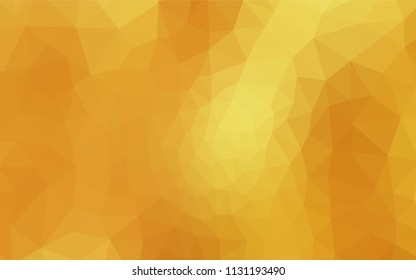 Dark Yellow vector polygon abstract layout. Colorful illustration in polygonal style with gradient. Completely new template for your banner.