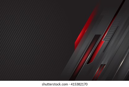 Dark-grey vector background with slashes and red elements
