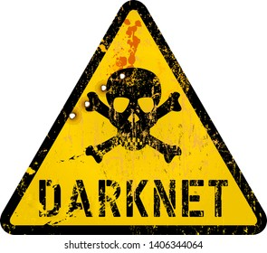 darknet, cyber crime warning sign,grungy style, vector illustration, ficitonal artwork