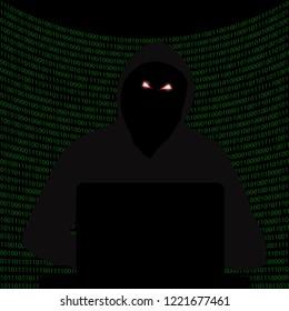 Darknet Dark Internet Hacker attack Hacking system. Drop the system. Vector illustration.