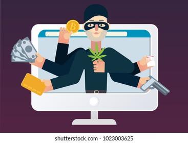 Darknet market. Illegal online shop