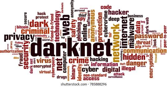 Darknet word cloud concept. Vector illustration