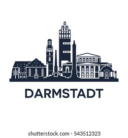 Darmstadt Skyline Emblem, Germany