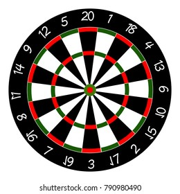 Dart Board. Professional design vector