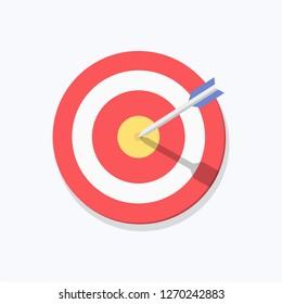 Dart Board Vector Icon