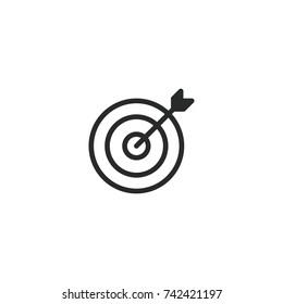 dart icon. sign design