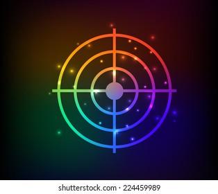 Dart symbol,rainbow vector