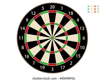 Dart Tablered and white and darts
