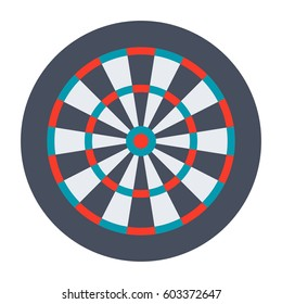 Dartboard for darts game, vector illustration in flat design
