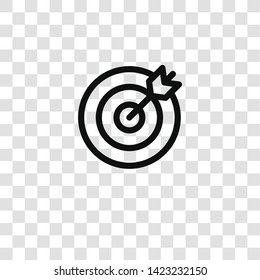 dartboard icon from  collection for mobile concept and web apps icon. Transparent outline, thin line dartboard icon for website design and mobile, app development