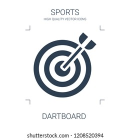 dartboard icon. high quality filled dartboard icon on white background. from sports collection flat trendy vector dartboard symbol. use for web and mobile