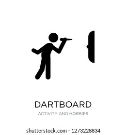 dartboard icon vector on white background, dartboard trendy filled icons from Activity and hobbies collection, dartboard simple element illustration