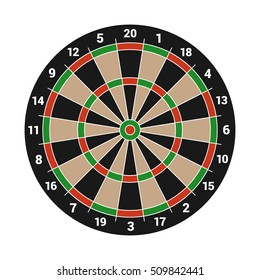 Dartboard Isolated on White Background. Vector illustration