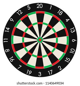 Dartboard. Professional design vector illustration