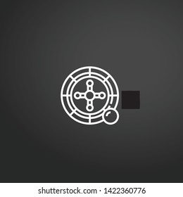 Dartboard vector icon. Dartboard concept stroke symbol design. Thin graphic elements vector illustration, outline pattern for your web site design, logo, UI. EPS 10.