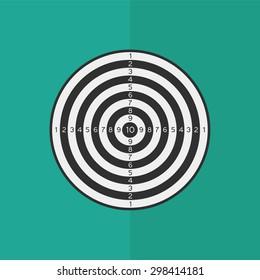Dartboard vector icon. Flat design