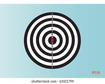 Dartboard. Vector illustration.