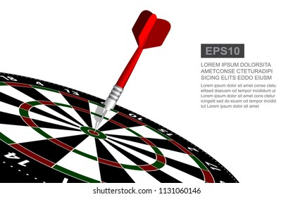 Dartboard vector illustration isolated for darts game. Target in the center.