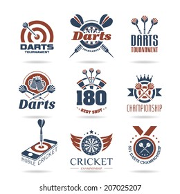 Darts icon set - 2