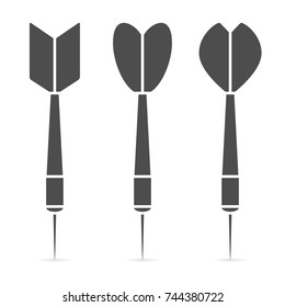 Darts icon set. Vector illustration.