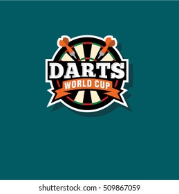 Darts logo. Darts world cup emblem.
