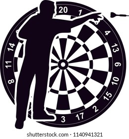 Darts Sports Game Logo