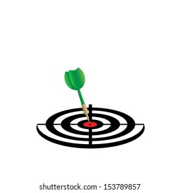 darts target aim vector cartoon