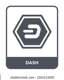 dash icon vector on white background, dash trendy filled icons from Cryptocurrency economy and finance collection, dash simple element illustration