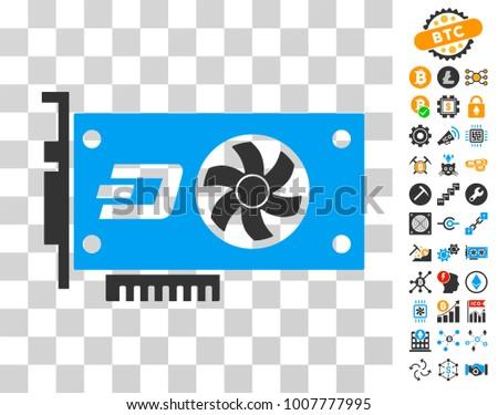 Dash Video Gpu Card Pictograph Bonus Stock Vector (Royalty