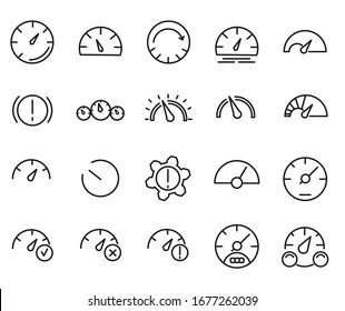 Dashboard icon set. Simple set of dashboard icons for web design isolated on white background