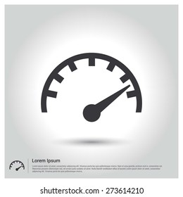Dashboard Icon Vector Illustration, pictogram icon on gray background. Flat design style