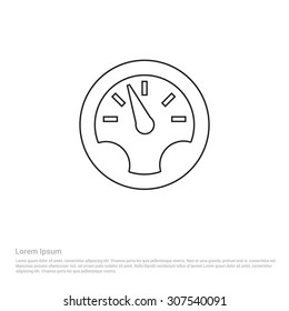 Dashboard Outline Icon, Vector Illustration, Flat pictogram icon