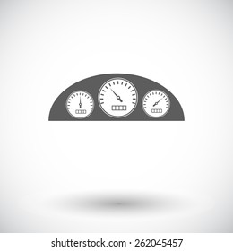 Dashboard. Single flat icon on white background. Vector illustration.