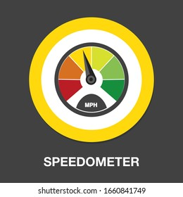 dashboard speedometer gauge isolated vector - performance technology meter illustration sign . accelerate meter sign symbol