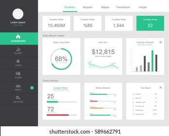 Dashboard user admin panel template design