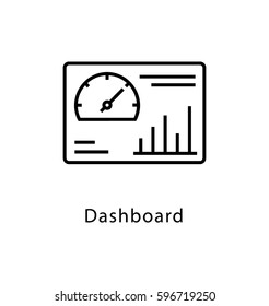 Dashboard Vector Line Icon