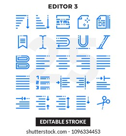 Dashed Outline Icons Pack for UI. Editable Stroke. Pixel perfect thin line vector icon set for web design and website application.